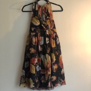 Anna Sui for Anthropology floral halter 👗 size 4